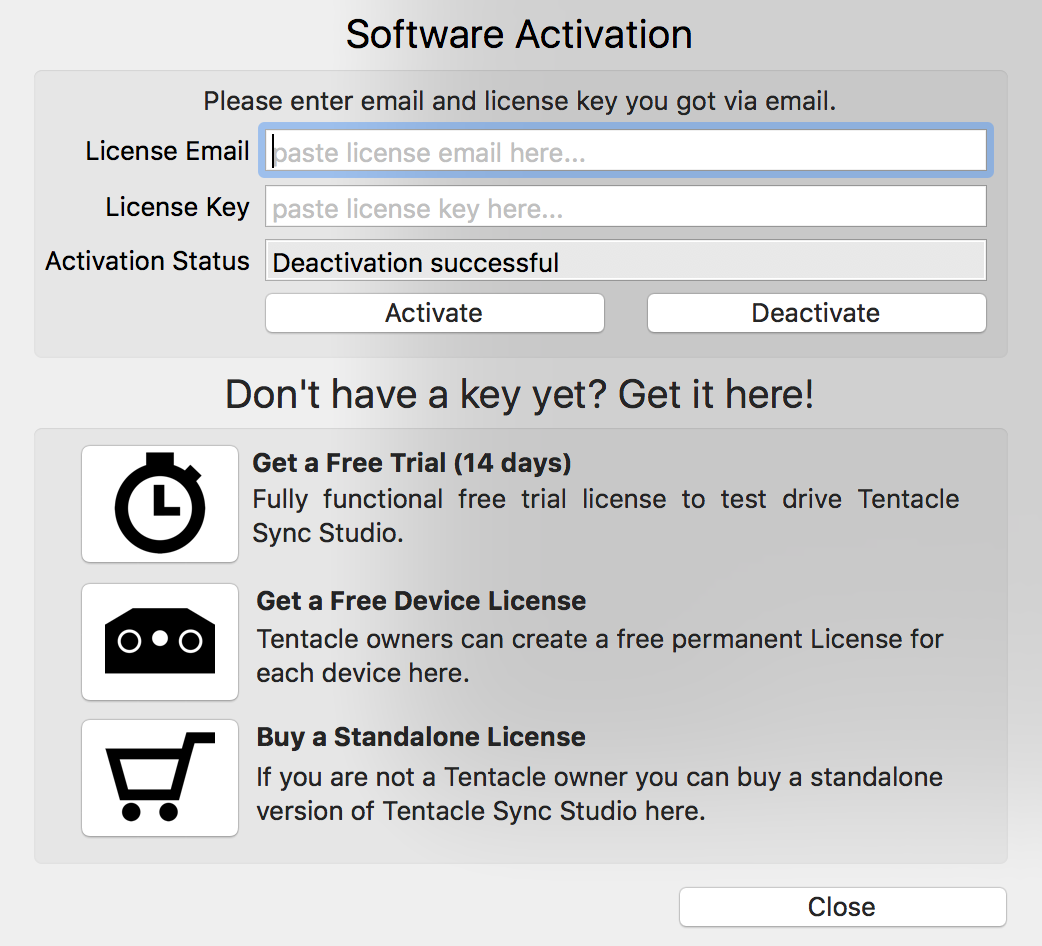 activate software without key